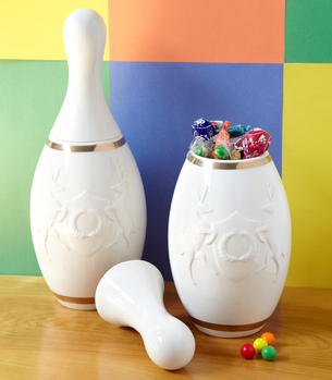 bowling pin container Lucky Strike Bowling Pin Container