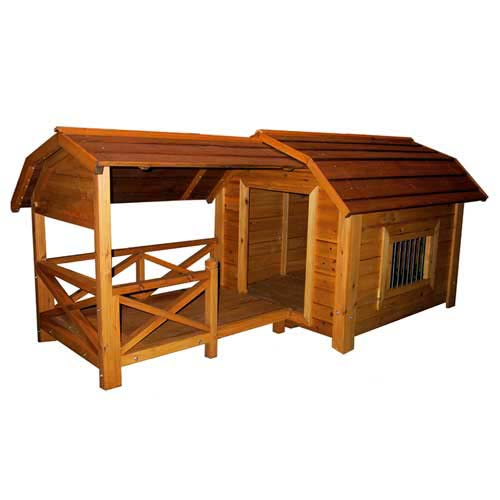 Massive Dog House That Looks Like A Barn With A Porch Features A Window Removable Roof Raised Floor And Porch Made Of Fir Wood Buy It Here 419 98