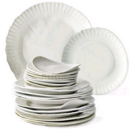 Virginia Sin Took Actual Paper Plates To Create A Mold From Which She Fired Clay These Porcelain As Light And Thin Real