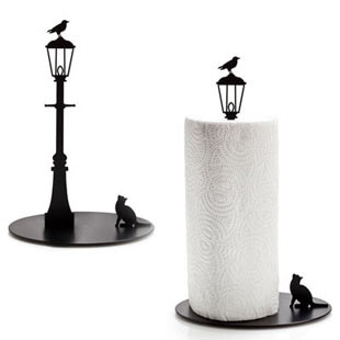 cat and crow paper towel Cat and Crow Paper Towel Holder