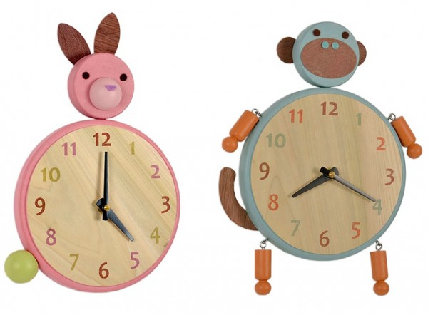 animal clocks 600x442 Animal Clocks
