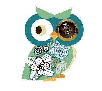 owl peephole Owl Peephole Sticker