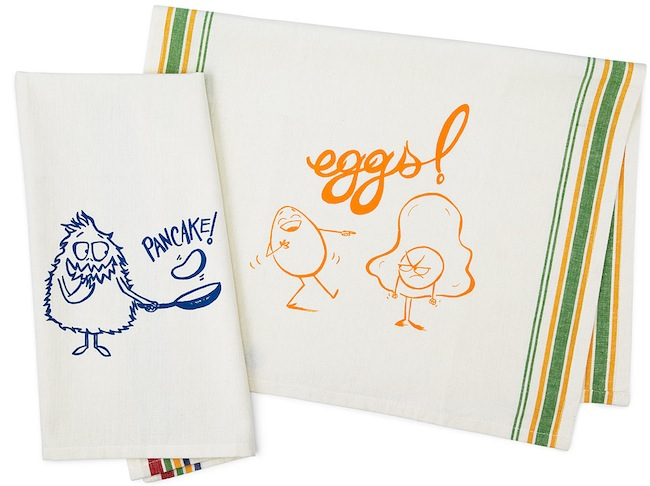 pancakes eggs towel Pancake and Eggs Towel Set