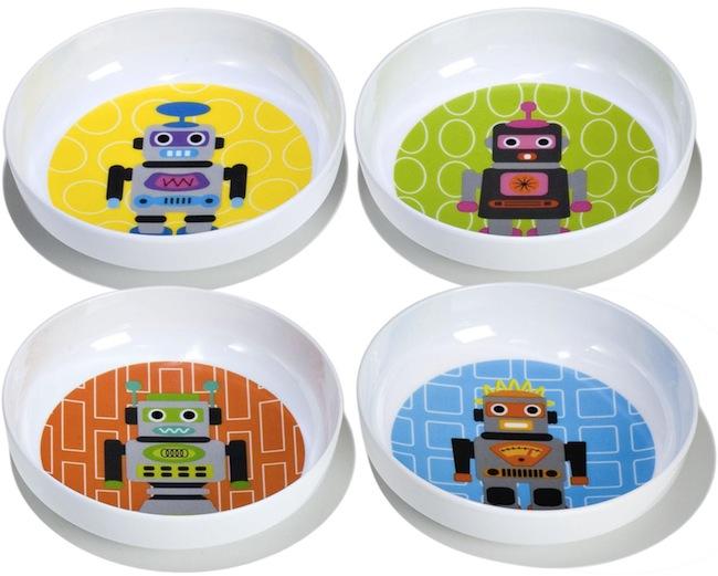 robot kids plates Robot Kids Bowls